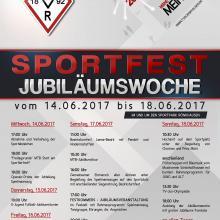 TVR feiert 125-jähriges Gründungsjubiläum mit Sportwoche vom 14.-18. Juni 2017